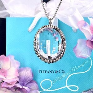 T&Co. Ziegfield Large Oval Rock Crystal Pendant